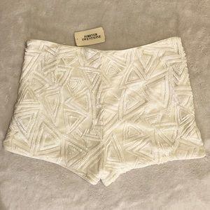 Forever 21 white sequin shorts